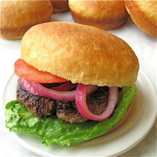 No-Knead Cheese Burger Buns