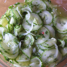 Marinated Cucumbers With a Thai Twist