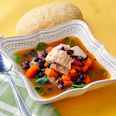 Barbeque Chicken and Blackbean Soup