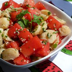 Watermelon and Sesame Seed Salad