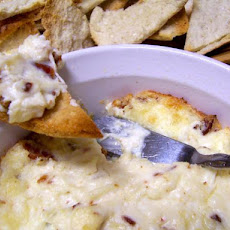 Hot Bacon & Swiss Dip With Pita Crisps