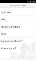 Screenshot of Hmong Translator
