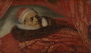 RIJKS: Adriaen Pietersz. van de Venne: Stadtholder Prince Maurice Lying in State 1625