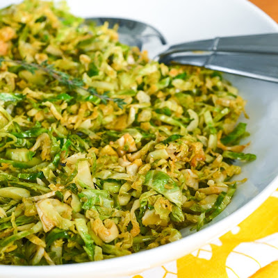 Smoky, Lemony Sautéed Shredded Brussels Sprouts