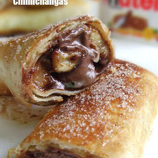 Nutella and Banana Chimichangas