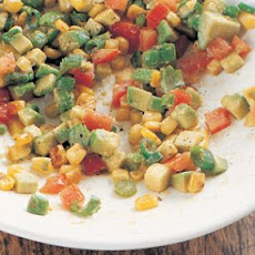Avocado, Toasted Corn and Chipotle Salsa