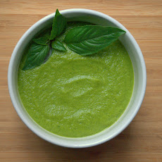 Zucchini Soup with Avocado and Basil