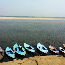 bots by Rajesh Dahiya - Nature Up Close Water ( water, nature, landscape, boat, river )