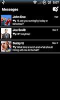 Screenshot of Black for Facebook Messenger
