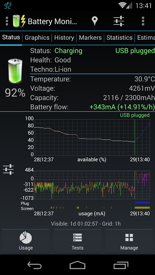 3C Battery Monitor Widget Pro Screenshot 1