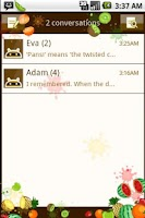 Screenshot of Easy SMS Fun Fruites theme