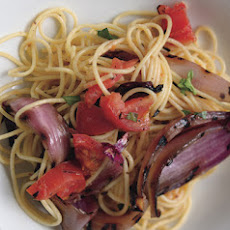Spaghetti with Smoky Tomatoes and Onions