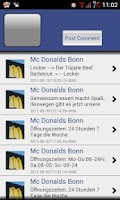 Screenshot of McDonald's Bonn