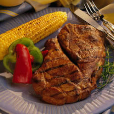 Grilled Honey-Soy Pork Steaks