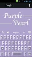 Screenshot of GO Keyboard Purple Pearl