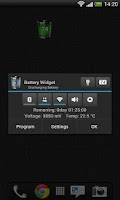 Screenshot of Battery Widget Free