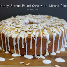 Buttery Almond Pound Cake with Almond Glaze