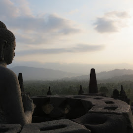 Borobudur Temple, Indonesia by Joe Tucker - Buildings & Architecture Statues & Monuments ( temple, indonesia, forest, travel, buddha )