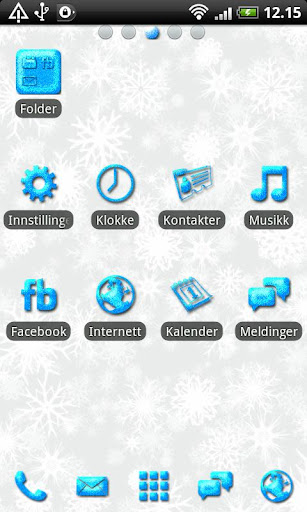 Blue Glitter GO Launcher Theme