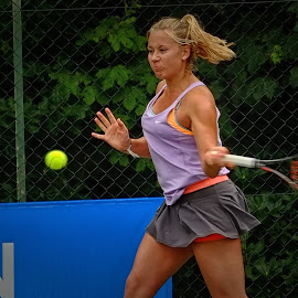 determination  by Phil Robson - Sports & Fitness Tennis ( ladies tennis, concentration, determination, forehand, tennis )