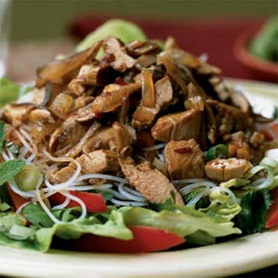 Shredded Five-Spice Turkey with Herb and Noodle Salad