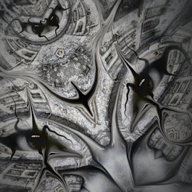Glastonbury Tor Watcher by Simon Eastop - Digital Art Things ( abstract, glastonbury, watcher, tor, eyes )