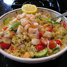 Greek Orzo Salad With Grilled Shrimp