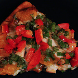 Thai Style Pizza by Waynette  Townsend - Food & Drink Plated Food ( dinner, plated, onions, peppers, pizza, thai, lunch,  )