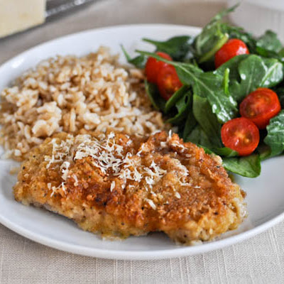 Buttermilk Soaked Baked Parmesan Pork Chops