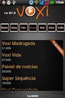 Screenshot of Voxi FM