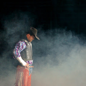 The Rodeo Man by Dustin White - People Professional People ( rodeo, professional, man, smoke,  )