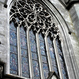 Church Window Ireland by Roxanne Dean - Buildings & Architecture Places of Worship ( religious architect stain glass window,  )