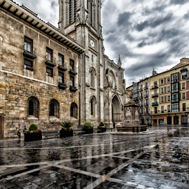 Plaza Santiago - 2 by Eduardo Latorre - City,  Street & Park  Historic Districts ( bilbao, santiago, casco viejo, catedral, plaza )
