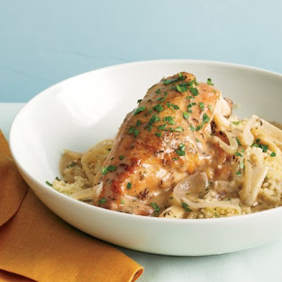 Slow-Cooker Garlic Chicken with Couscous