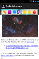Screenshot of Daily Astronomy