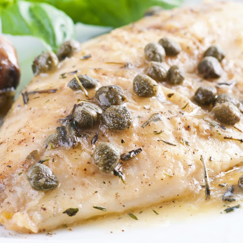 Pan-Seared Halibut with Lemon Sauce