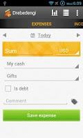 Screenshot of Personal finance