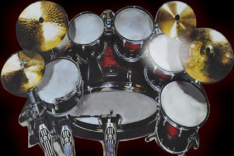 プロのドラムセット