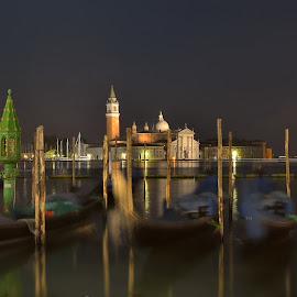 Venice by Albergamo Paolo - Landscapes Travel ( paolo albergamo, venice, lake, night, landscape )