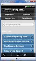 Screenshot of Piercing Schmuck Shop