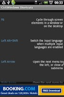 Screenshot of Ctrl: Windows Shortcut Keys