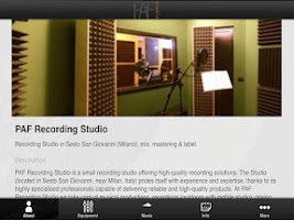 Screenshot of PAF Recording Studio