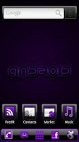 Screenshot of ADWTheme Incredible Purple