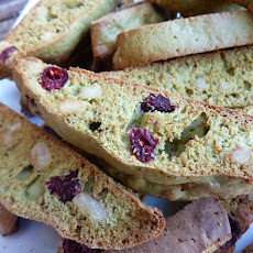 Matcha Tea Biscuits with Cranberries and Walnuts