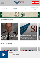 Screenshot of SDPB App