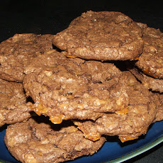Chocolate Coffee Toffee Cookies