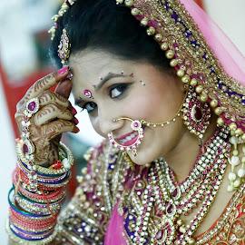 Click me by Kshitij Bhaswar - Wedding Bride ( wedding photography, makeup, candid photography, brides, indian, candid, kshitijbhaswar, marriage, indian bride, photography, bridal, wedding, weddings, bride )