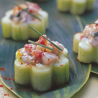 Shrimp Ceviche in Cucumber Cups