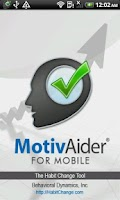Screenshot of MotivAider® for Mobile