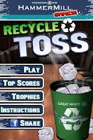 Screenshot of Recycle Toss